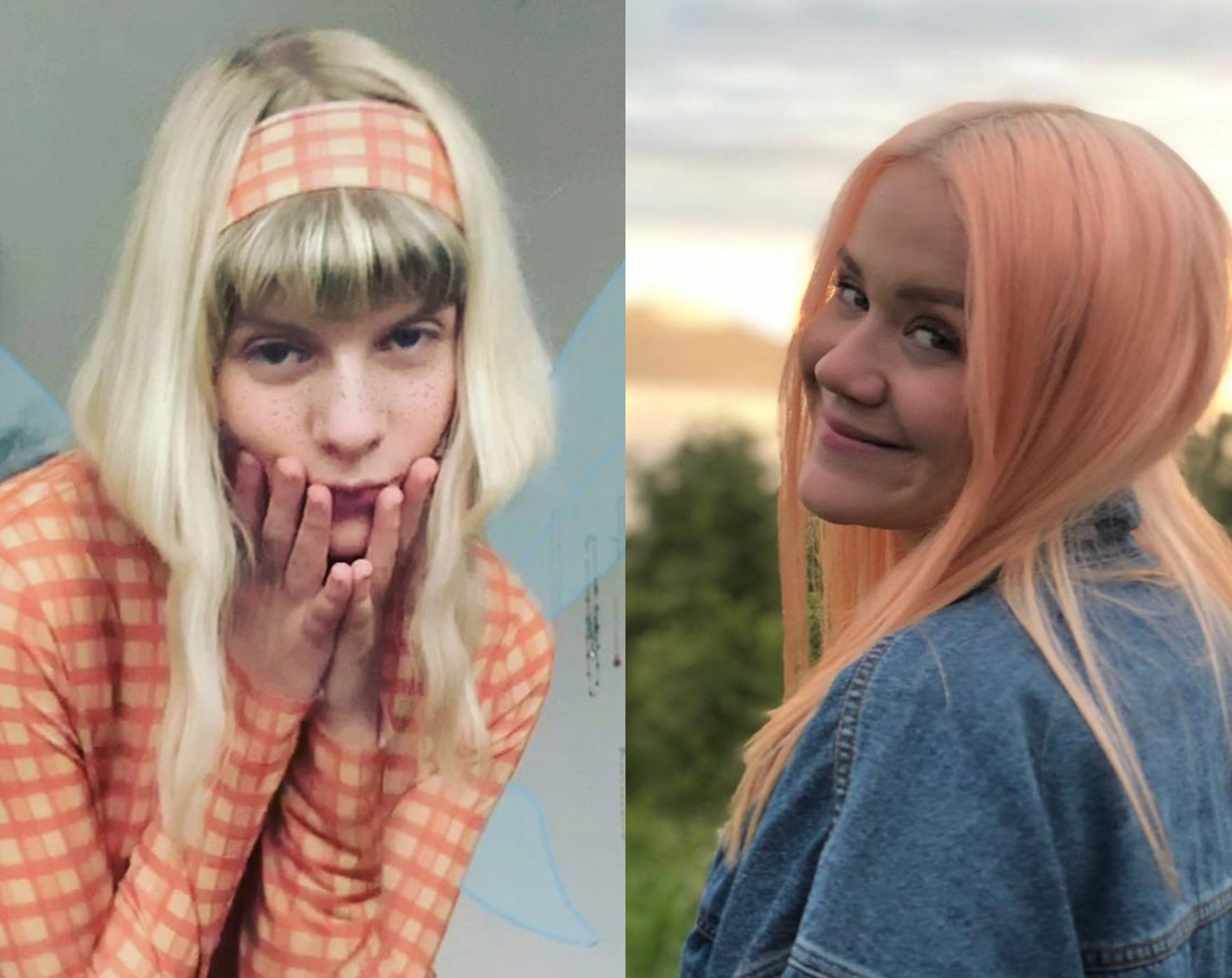 Aurora Aksnes og Caroline Ailin (Instagram./auroramusic, Instagram/carolineailin)