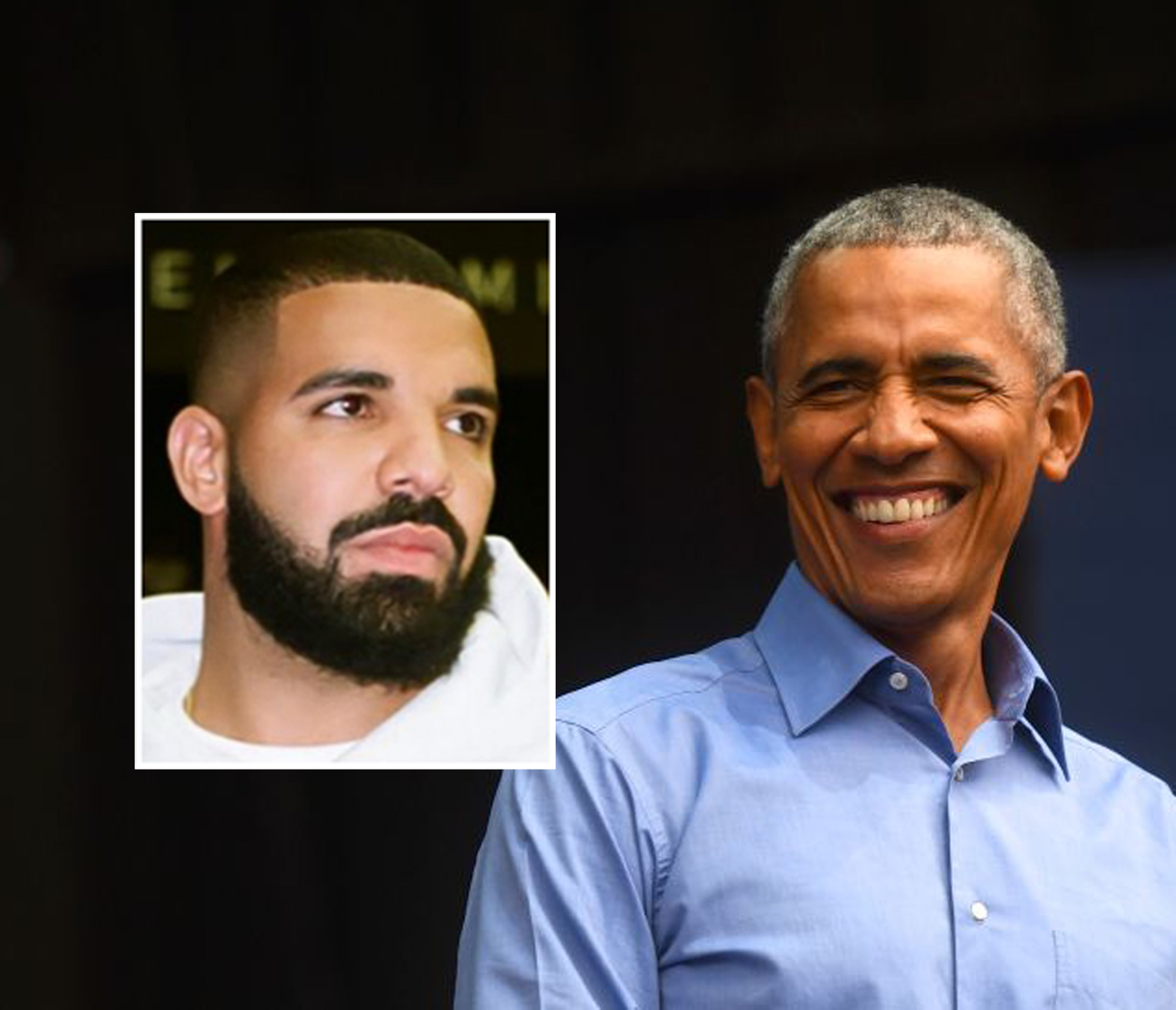 Aubrey Graham aka Drake og Barack Obama (Mark Makela/Getty, Instagram/champagnepapi)