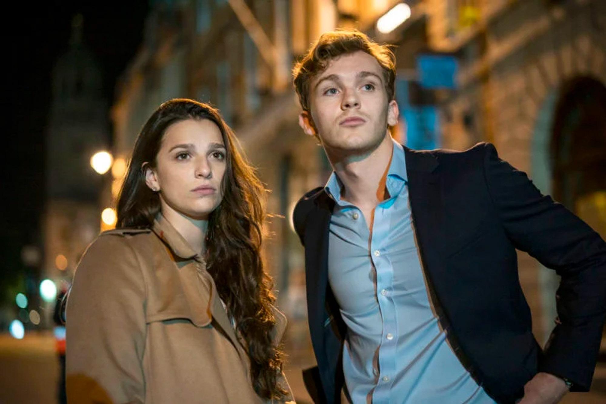 Marisa Abela og Robert Lawtey som Yasmin og Robert i Industry (BBC Two/HBO Max)