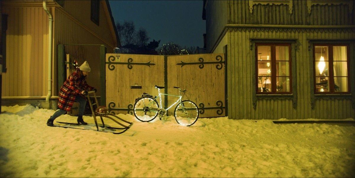 Bilde fra Hjem til jul brukes i annonsen (Netflix)