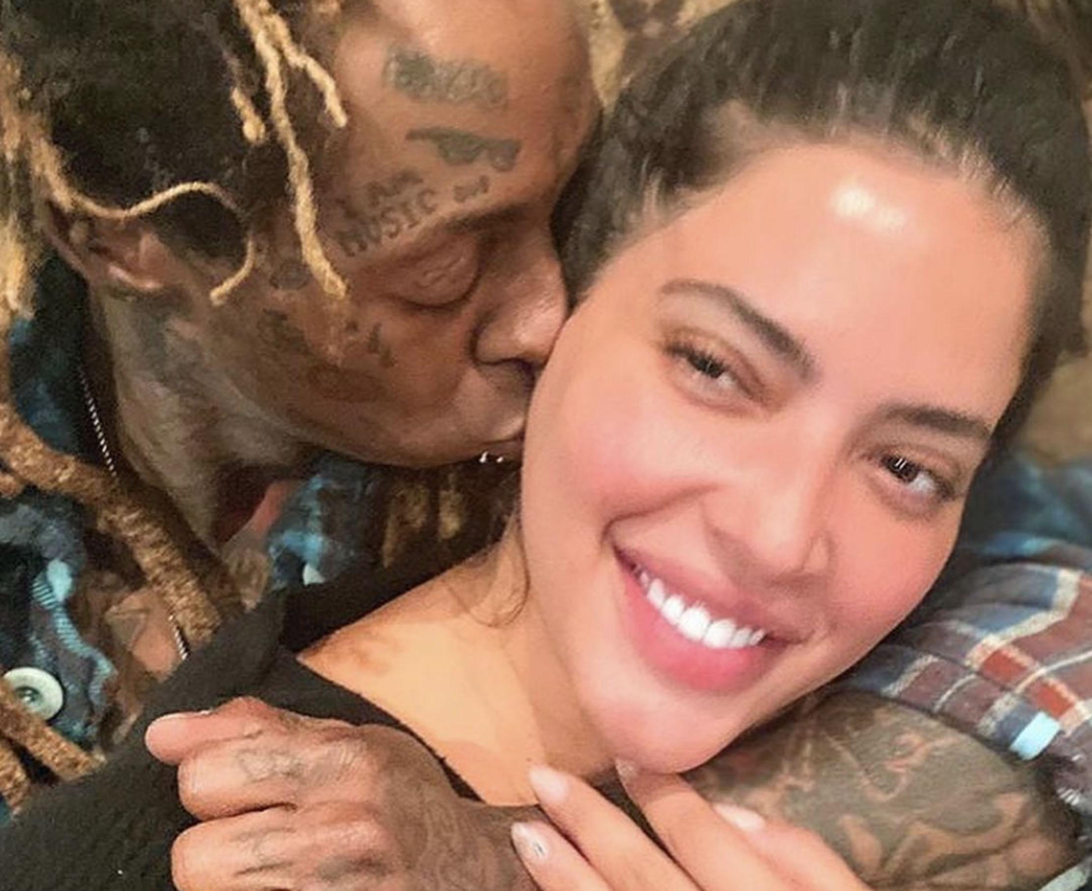 Lil Wayne og Denise Bidot i lykkeligere stunder (Instagram/liltunechi)