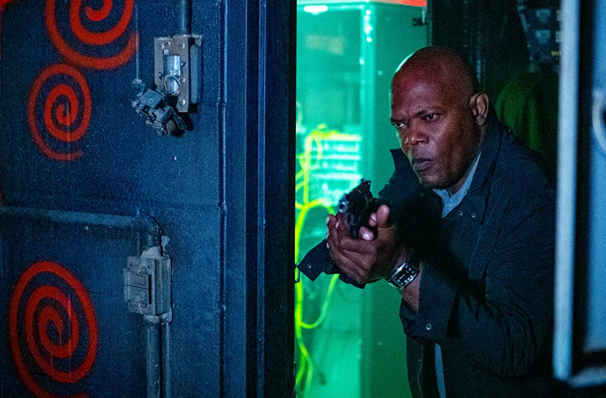 Spiral: From the Book of Saw med Samuel L. Jackson som politi-O.G. Marcus Banks (Lionsgate)