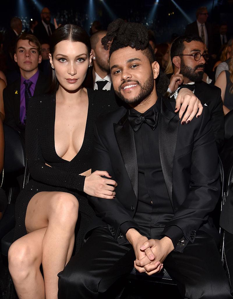 Grammy-throwback med Bella Hadid og The Weeknd (Lester Cohen/WireImage)
