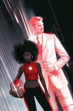 Iron Heart alias Riri Williams på coveret av Invincible Iron Man Vol. 3 (Marvel Comics)