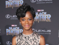 Letitia Wright på verdenspremieren til Black Panther i Los Angeles i 2018 (Jesse Grant/Getty/Disney)