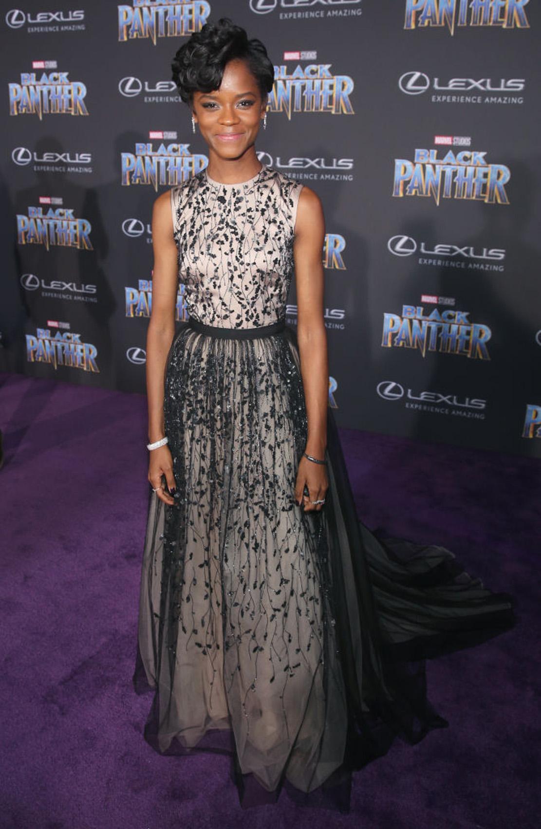 Letitia Wright påverdenspremieren til Black Panther i Los Angeles i 2018 (Jesse Grant/Getty/Disney)