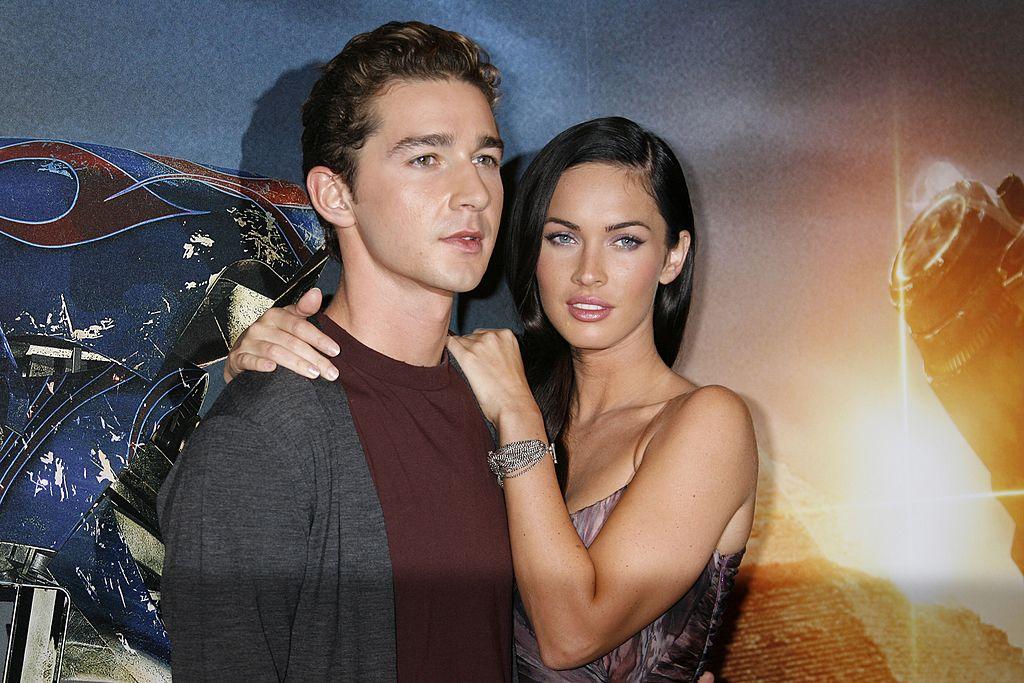 Shia LaBeouf og Megan Fox på Paris-premieren til Transformers: Revenge of the Fallen i 2009 (Pierre Hounsfield/Getty)