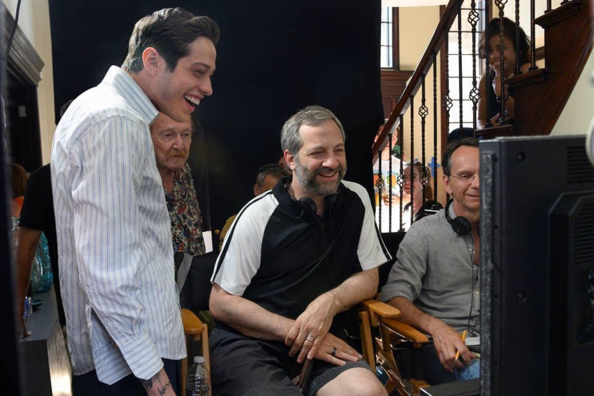 BTS med Pete Davidson og Judd Apatow fra The King of Staten Island (Universal Pictures)