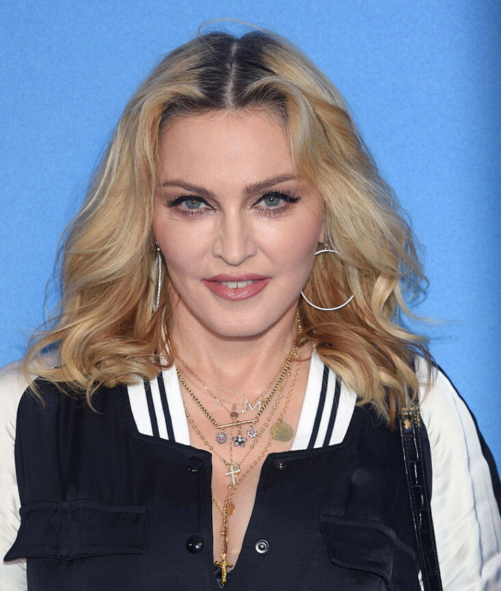 Madonna på premieren til The Beatles: Eight Days A Week - The Touring Years i London i 2016 England. (Karwai Tang/WireImage)