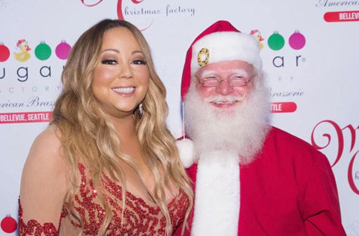 Mariah Carey og nissefar i 2017 (Mat Hayward/Getty/Sugar Factory)