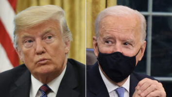 Donald Trump og Joe Biden i det ovale kontor (Chip Somodevilla/Getty, Win McNamee/Getty)