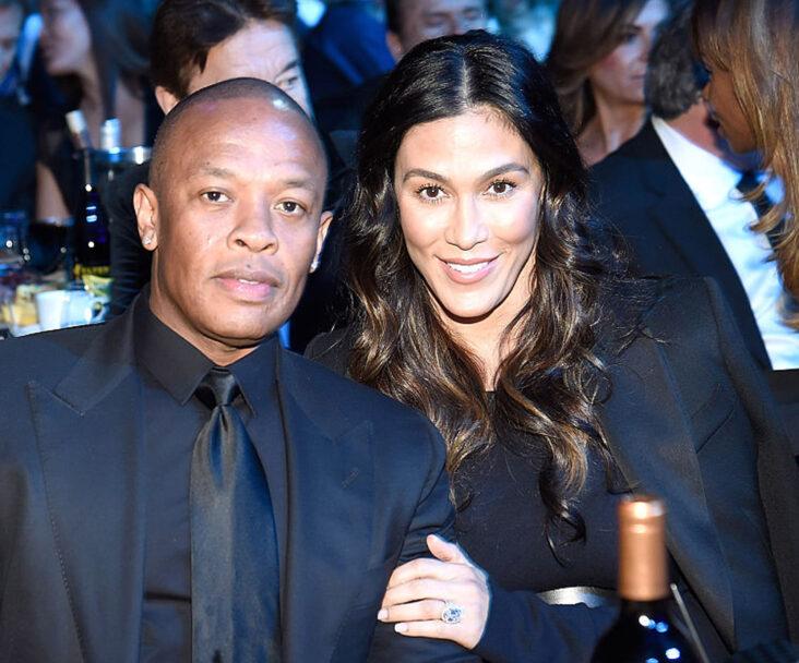 Dr. Dre og Nicole Young på Rock and Roll Hall of Fame Induction Ceremony på Barclays Center i Brooklyn i 2016 (Kevin Mazur/WireImage)