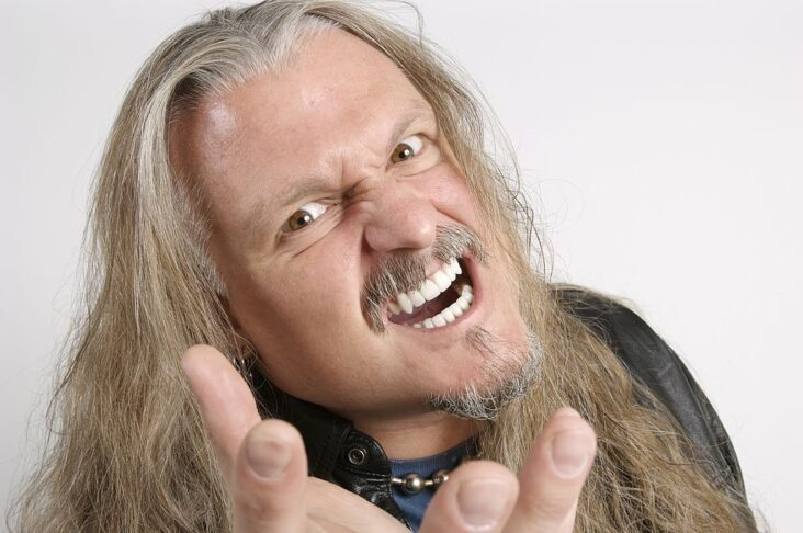 Jon Schaffer fra Iced Earth på backstage på Bloodstock Festival i England (Will Ireland/Metal Hammer Magazine/Future/Team Rock/Getty)