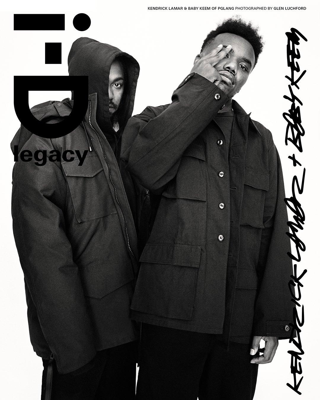 Kendrick Lamar og Baby Keem på forsiden av i-D i (faksimile i-D)