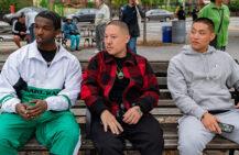 Pop Smoke, Eddie Huang og Taylor Takahashi i Boogie (Nicole Rivelli/Focus)