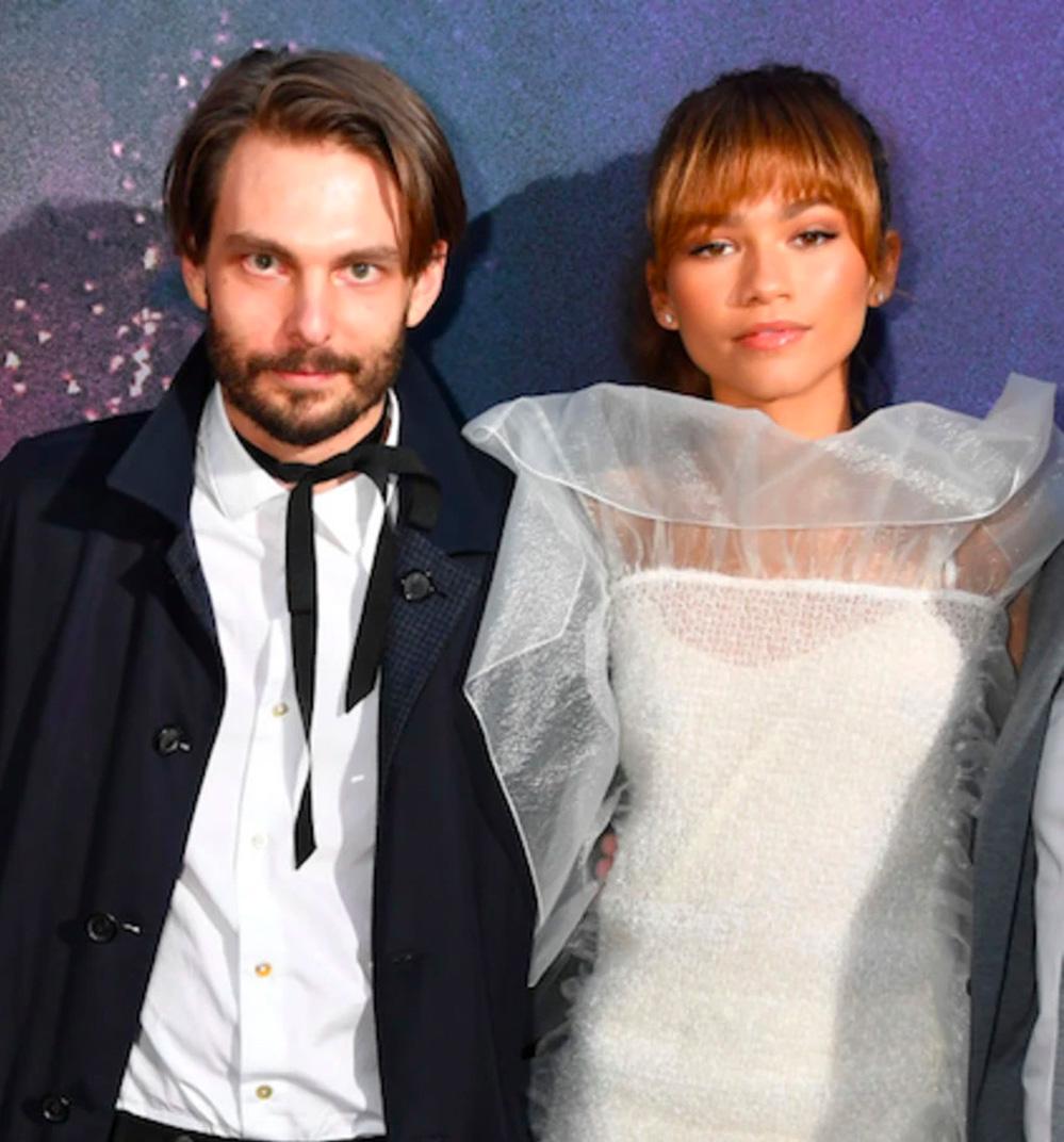 Sam Levinson og Zendaya på premieren til Euphoria i The Cinerama Dome i Los Angeles i 2019 (Kevin Winter/Getty)