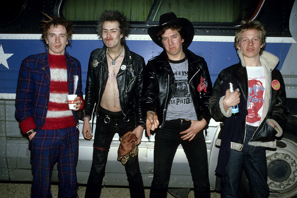 Sex Pistols på turné i USA i 1978: Johnny Rotten, Sid Vicious, Steve Jones og Paul Cook 📷 Richard E. Aaron/Redferns