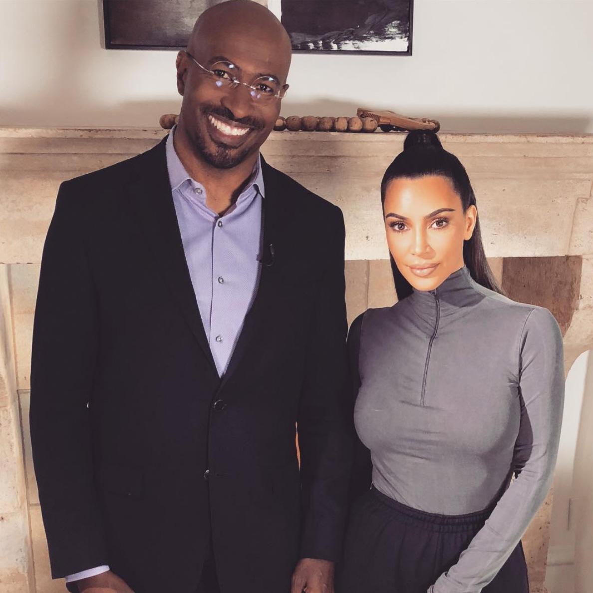 Van Jones og Kim Kardashian (Instagram/kimkardashian)