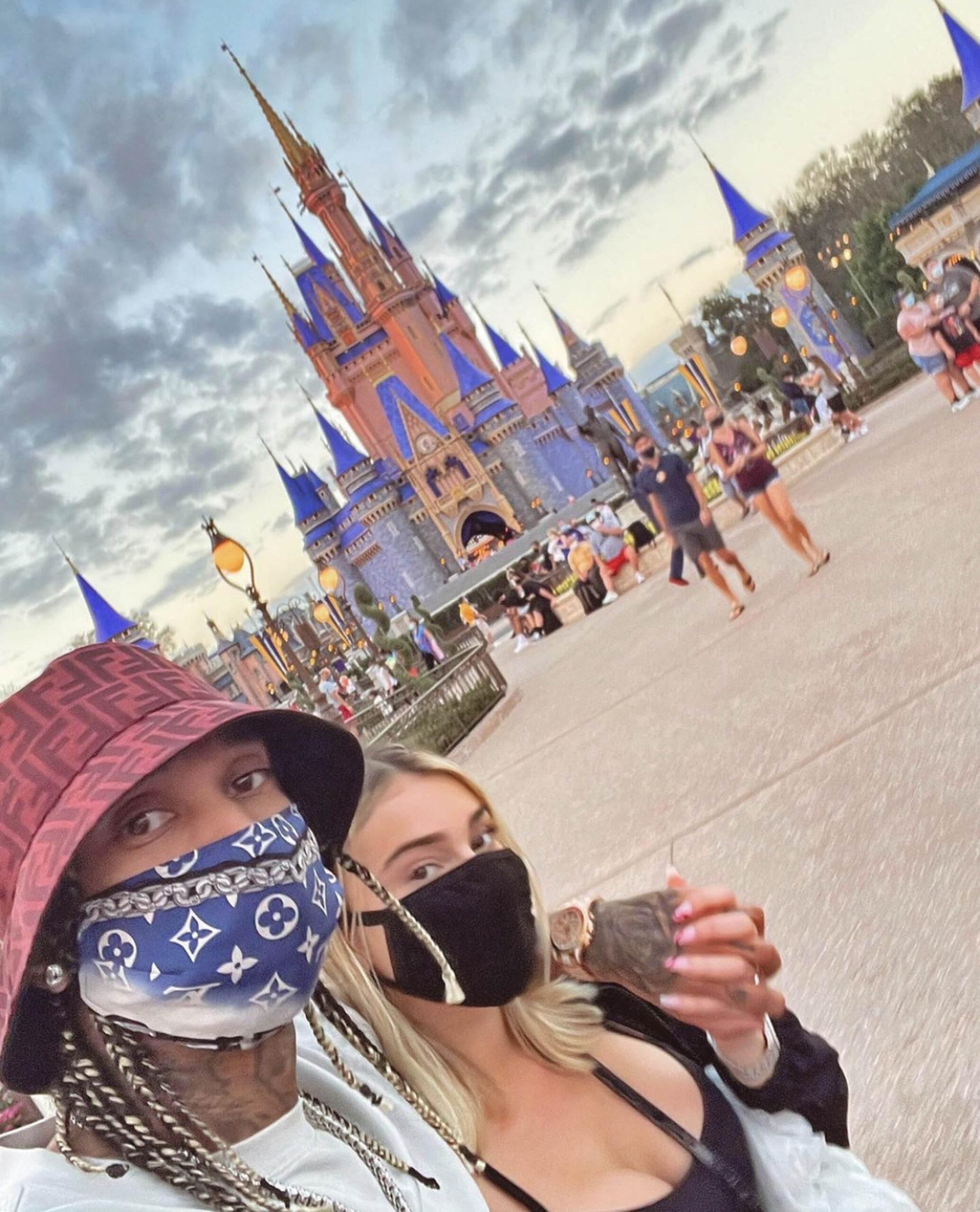 Tyga og Camaryn i Disneyworld (Instagram/camarynwanson)