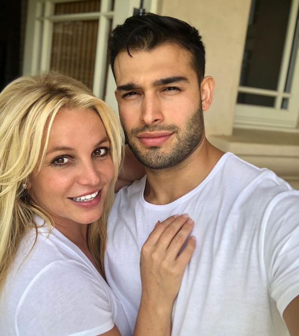 Britney Spears og Sam Asghari (Instagram/samasghari)