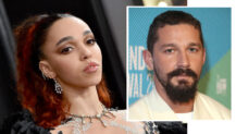 FKA twigs på Grammy Awards i Los Angeles i januar 2020 - Shia LaBeouf på europapremieren til Honey Boy i London i oktober 2019 (Axelle/Bauer-Griffin/FilmMagic, Mike Marsland/WireImage)