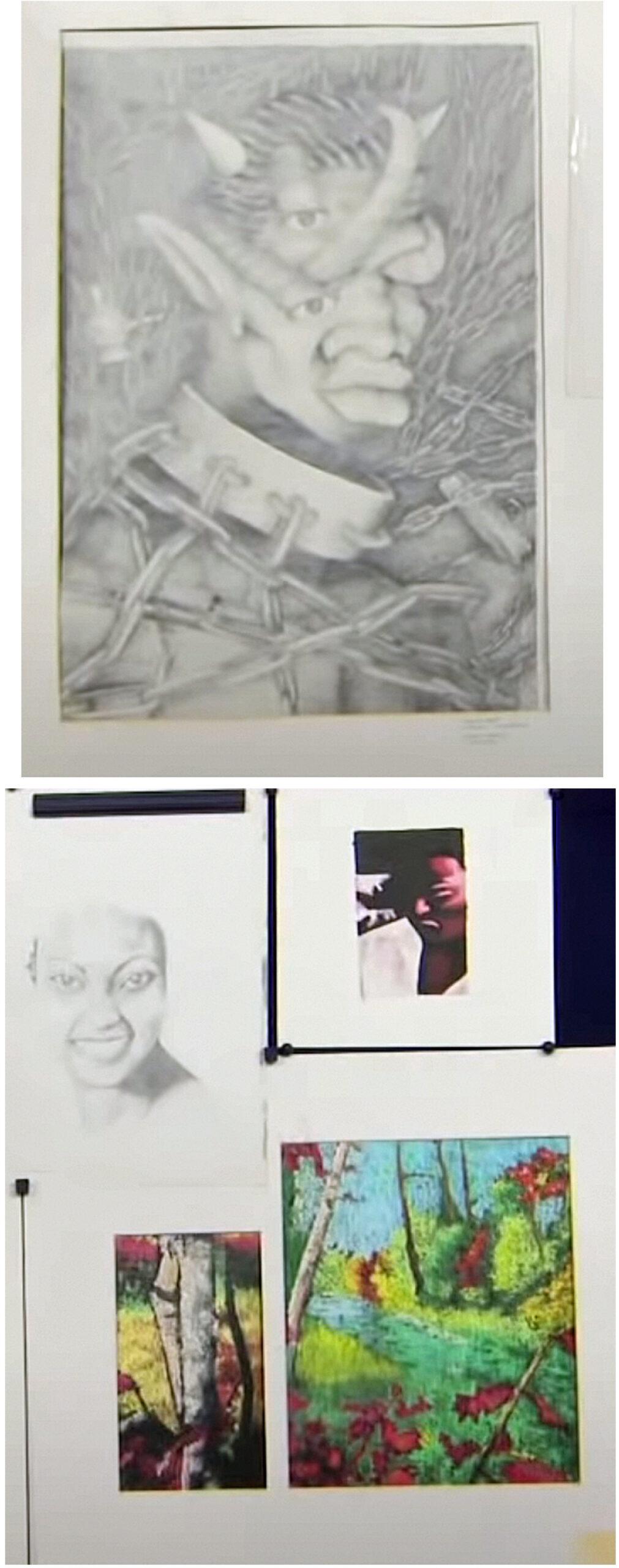 Kunst laget av unge Kanye West (PBS)