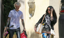 Machine Gun Kelly og Megan Fox i Los Angeles i september 2020 (P & P/MEGA/GC Images)