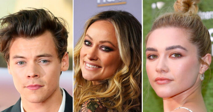 Harry Styles, Olivia Wilde, Florence Pugh (Samir Hussein/WireImage, Jemal Countess/Getty, Tim P. Whitby/Getty)