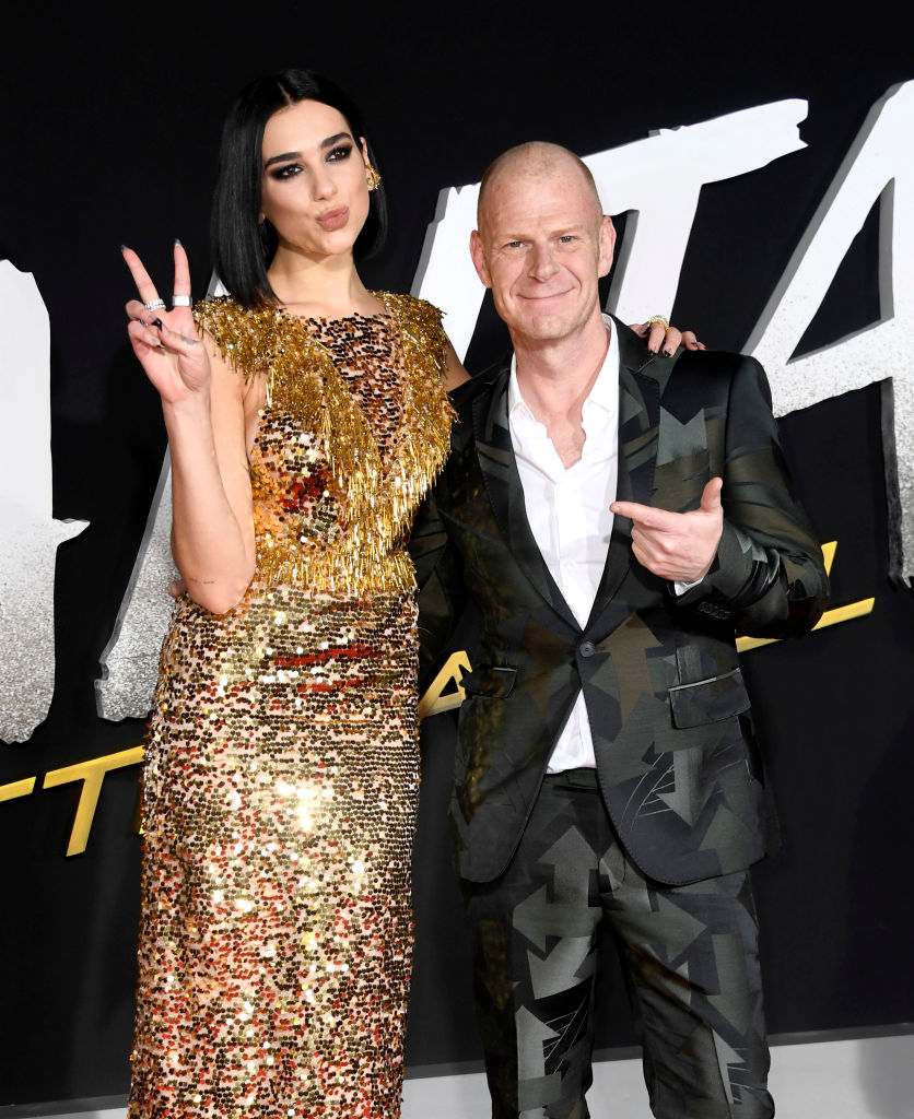 Tom Holkenborg aka Junkie XL med Dua Lipa på premieren til Alita: Battle Angel i Los Angeles i 2019 (Frazer Harrison/Getty)