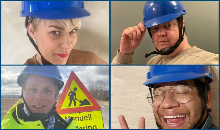 Den blå hjelmen gir viktig støtte