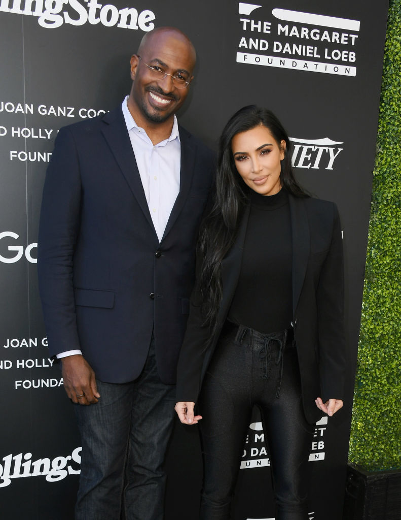 Van Jones og Kim Kardashian på 1st Annual Criminal Justice Reform Summit at 1 Hotel i West Hollywood i november 2018 (Jon Kopaloff/Getty)