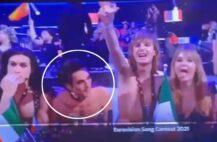 Damiano David og Måneskin tv-sendingen (skjermbilde Eurovision Song Contest)