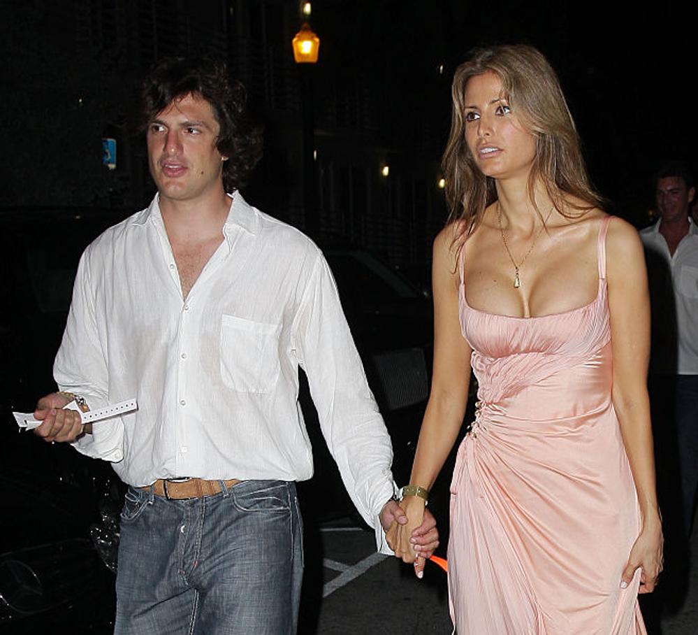Irina Shayks eks Valerio Morabito med modell Elsa Benitez (John Parra/WireImage)