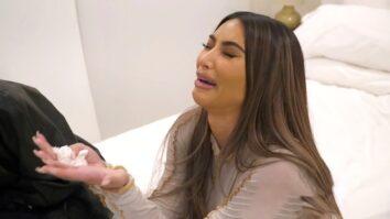 Kim Kardashian crying over Kanye West and marriage KUWTK season 20
