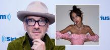 Elvis Costello og Olivia Rodrigo (Santiago Felipe/Getty, Geffen/Interscope)