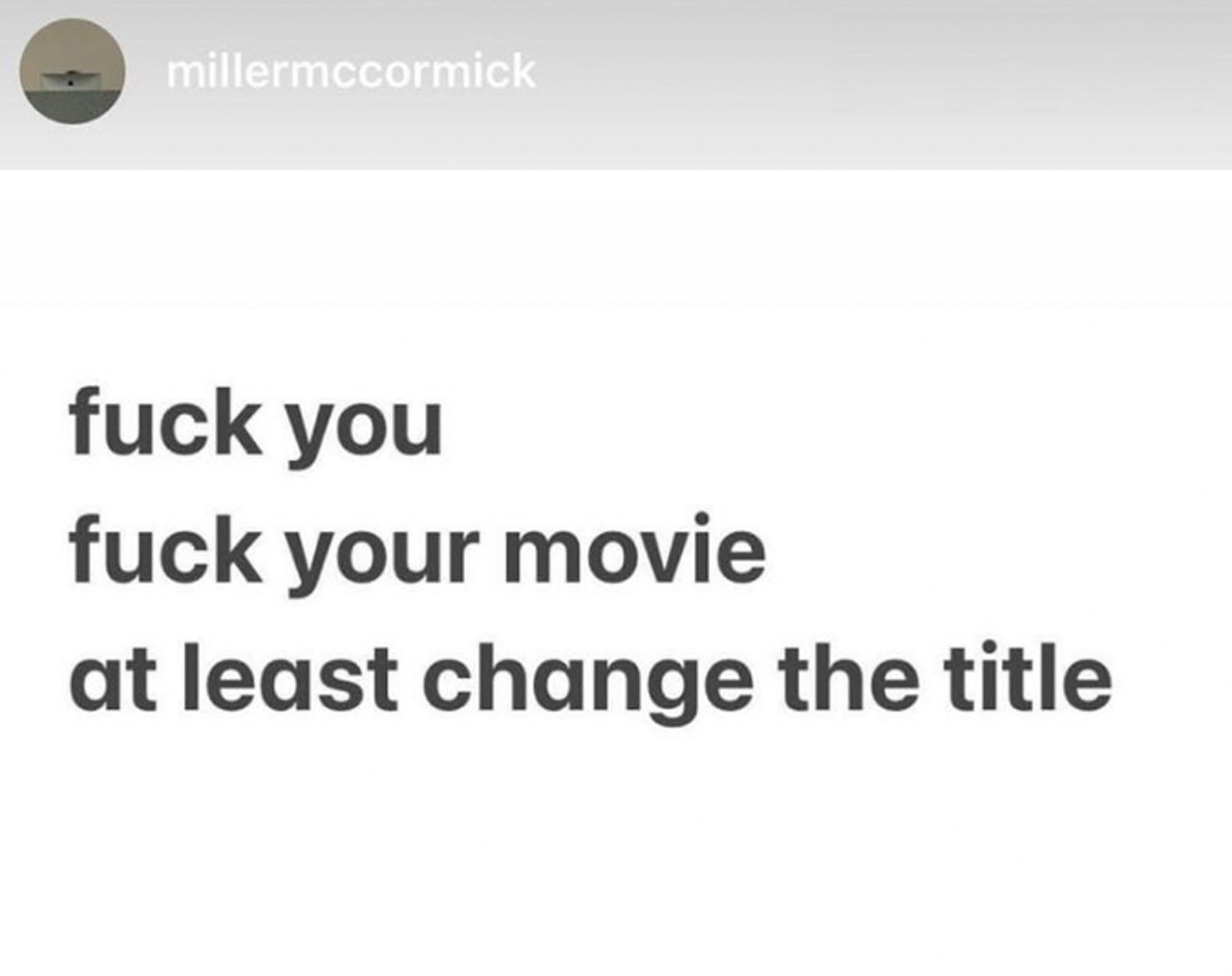 Miller McCormick, broren til Mac Miller alias Malcolm James McCormick, reagerer på filmen med Machine Gun Kelly som Mac (Instagram/millermccormick)