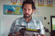 Paul Rudd som Ghostbusters-eksperten Mr. Grooberson i Ghostbusters: Afterlife (Columbia/Sony)