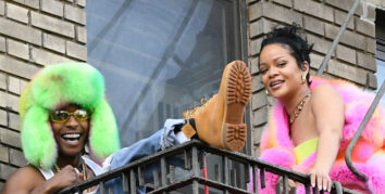 Rihanna og A$AP Rocky skyter musikkvideo i New York City (Raymond Hall/GC Images)
