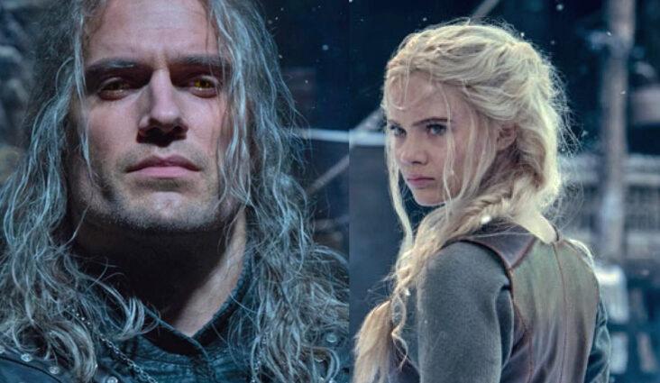 Henry Cavill som Geralt of Rivia, Freya Allan som prinsesse Cirilla alias Ciri (Netflix)