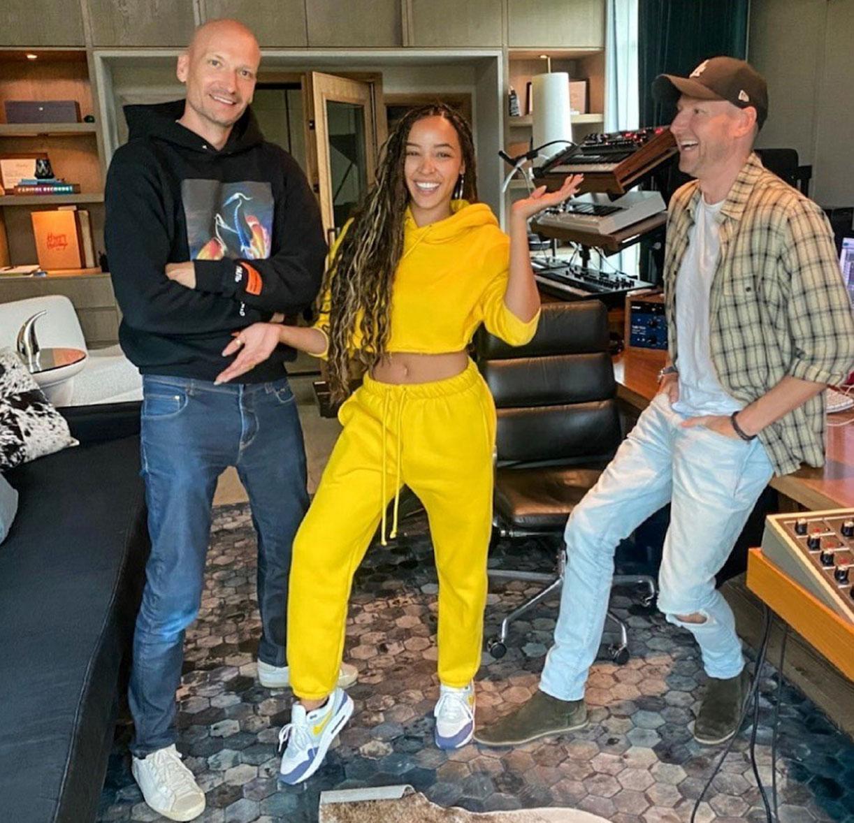 Mikkel S. Eriksen, Tinashe og Tor Erik Hermansen (Instagram/stargatemusic)