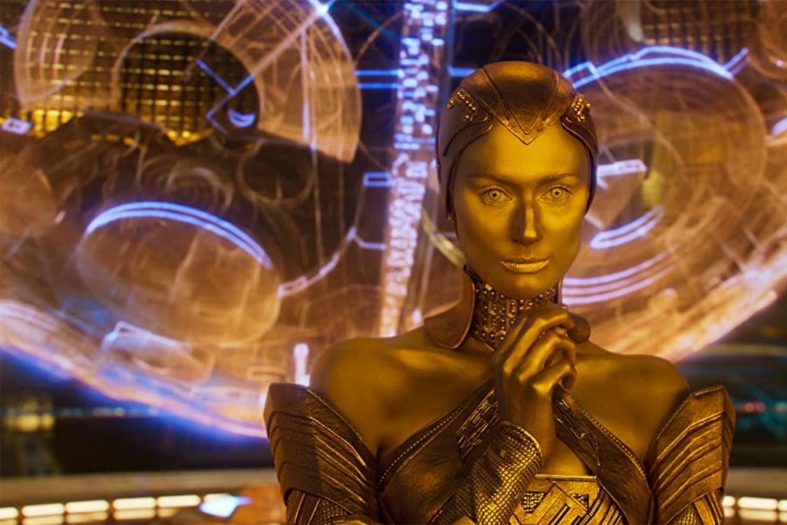 Elizabeth Debicki som Ayesha i MCU (Marvel/Disney)