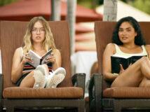 The White Lotus med Sydney Sweeney som Olivia Mossbache og Brittany O'Grady som Paula (HBO)