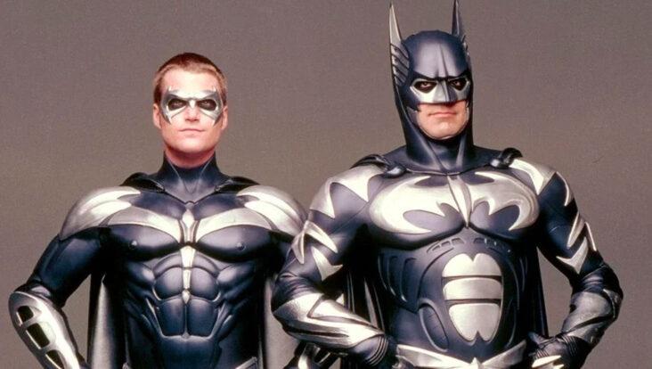 Batman & Robin fra 1997: Chris O'Donnell som Robin alias Dick Grayson, George Clooney som Batman alias Bruce Wayne (Warner Bros.)