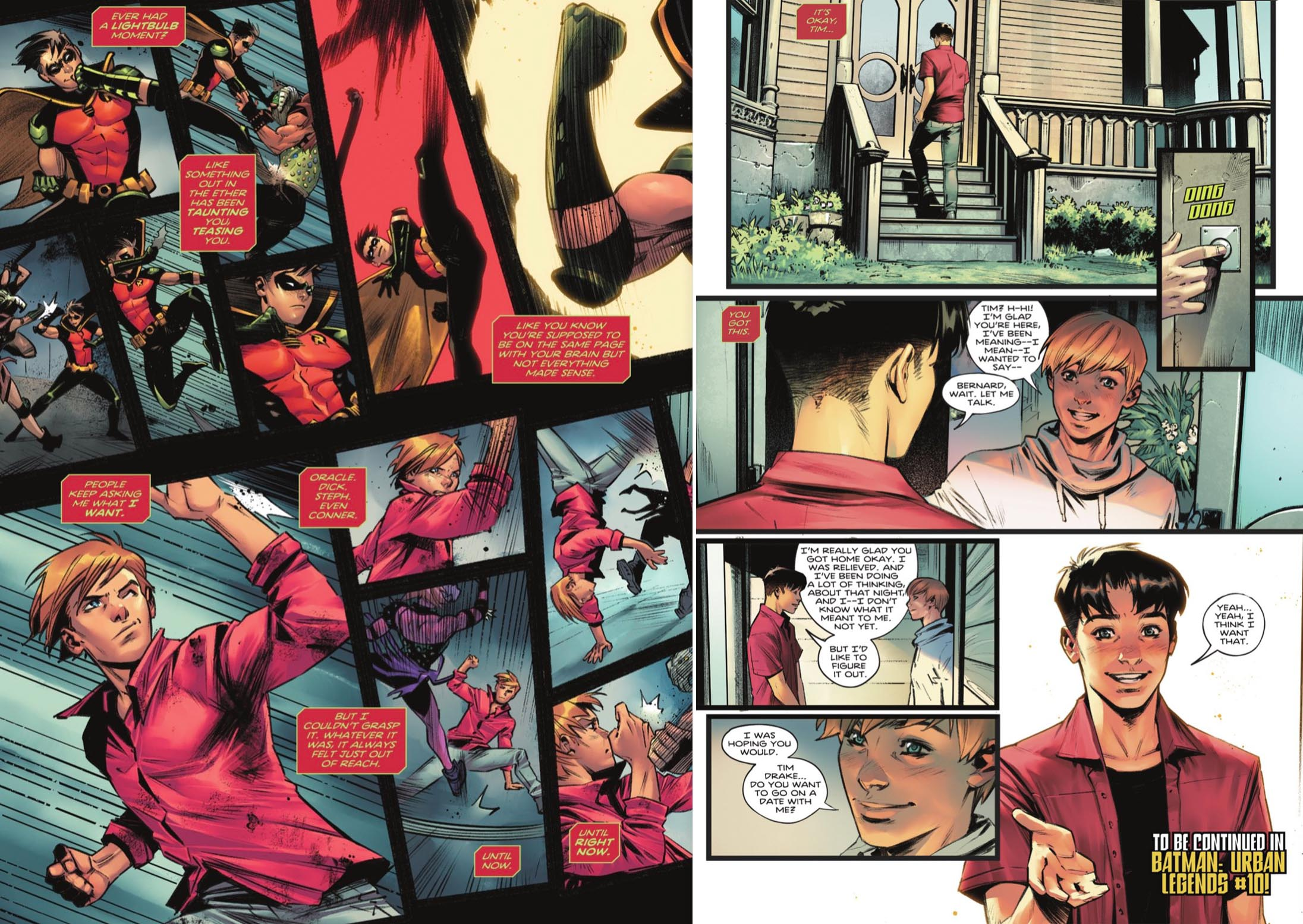 Robin i Batman: Urban Legends (faksimile DC Comcs)