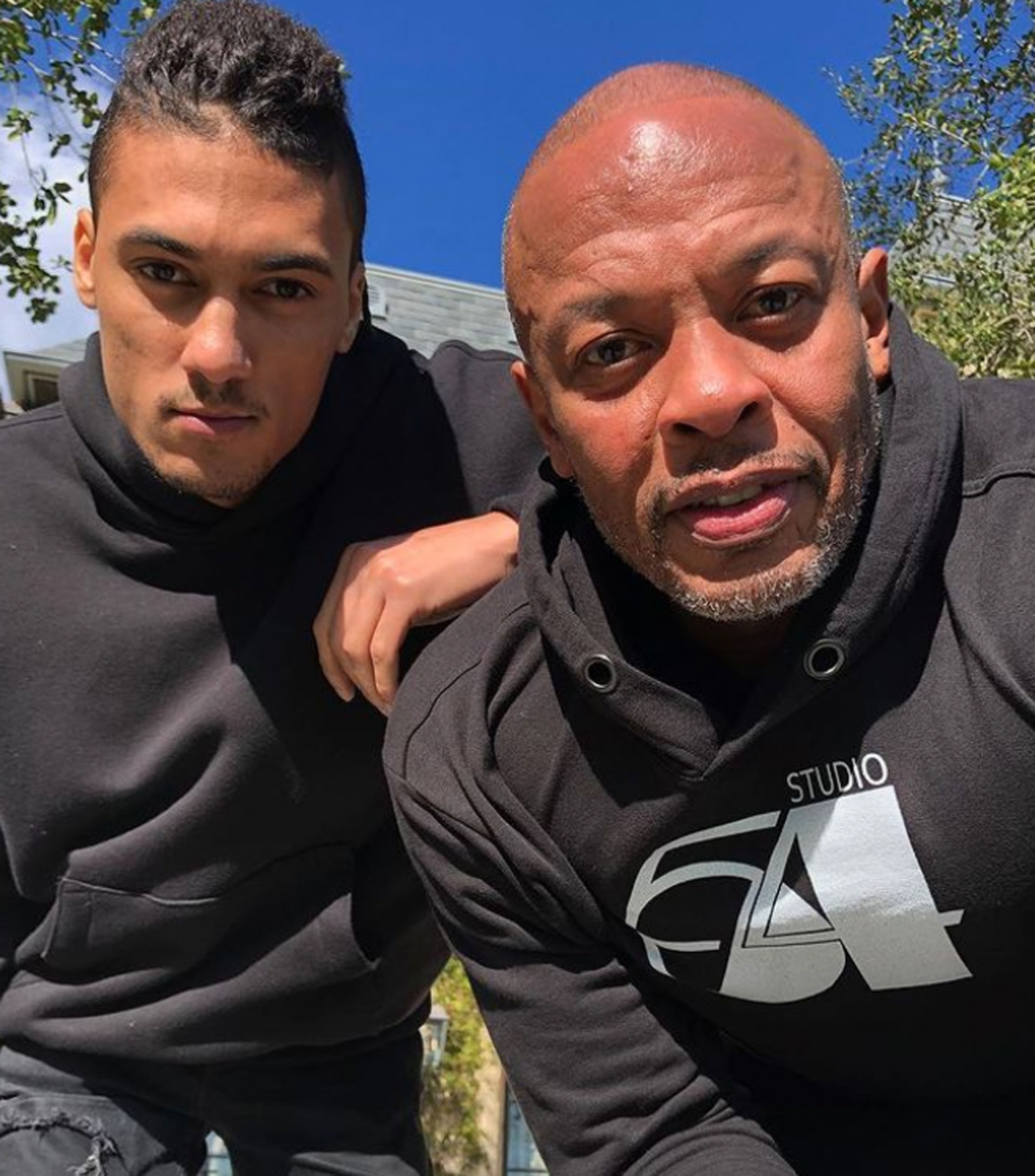 Truice Young og pappa Dr. Dre (Instagram/drdre)