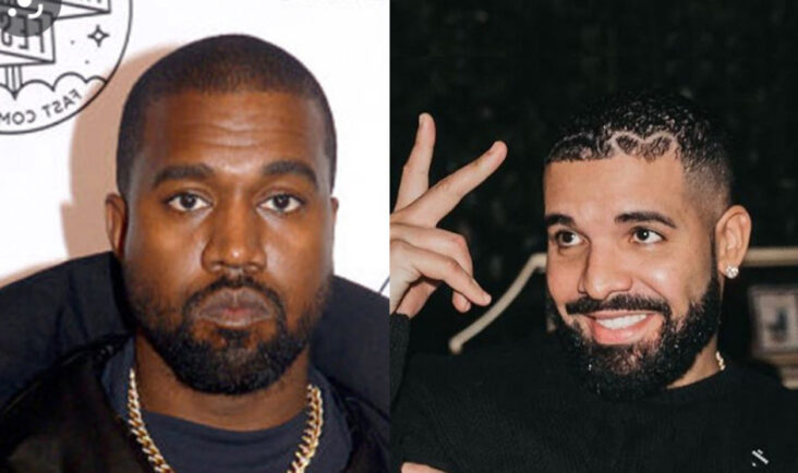 Drake vs. Kanye West (Instagram/champagnepapi, Brad Barket/Getty)
