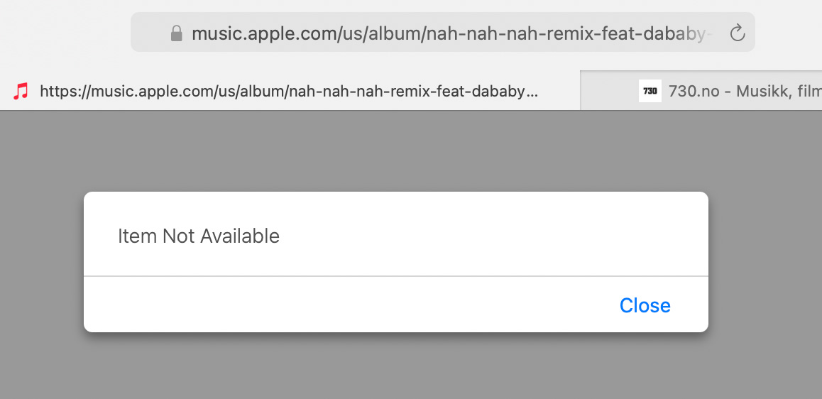 (skjermbilde Apple Music)