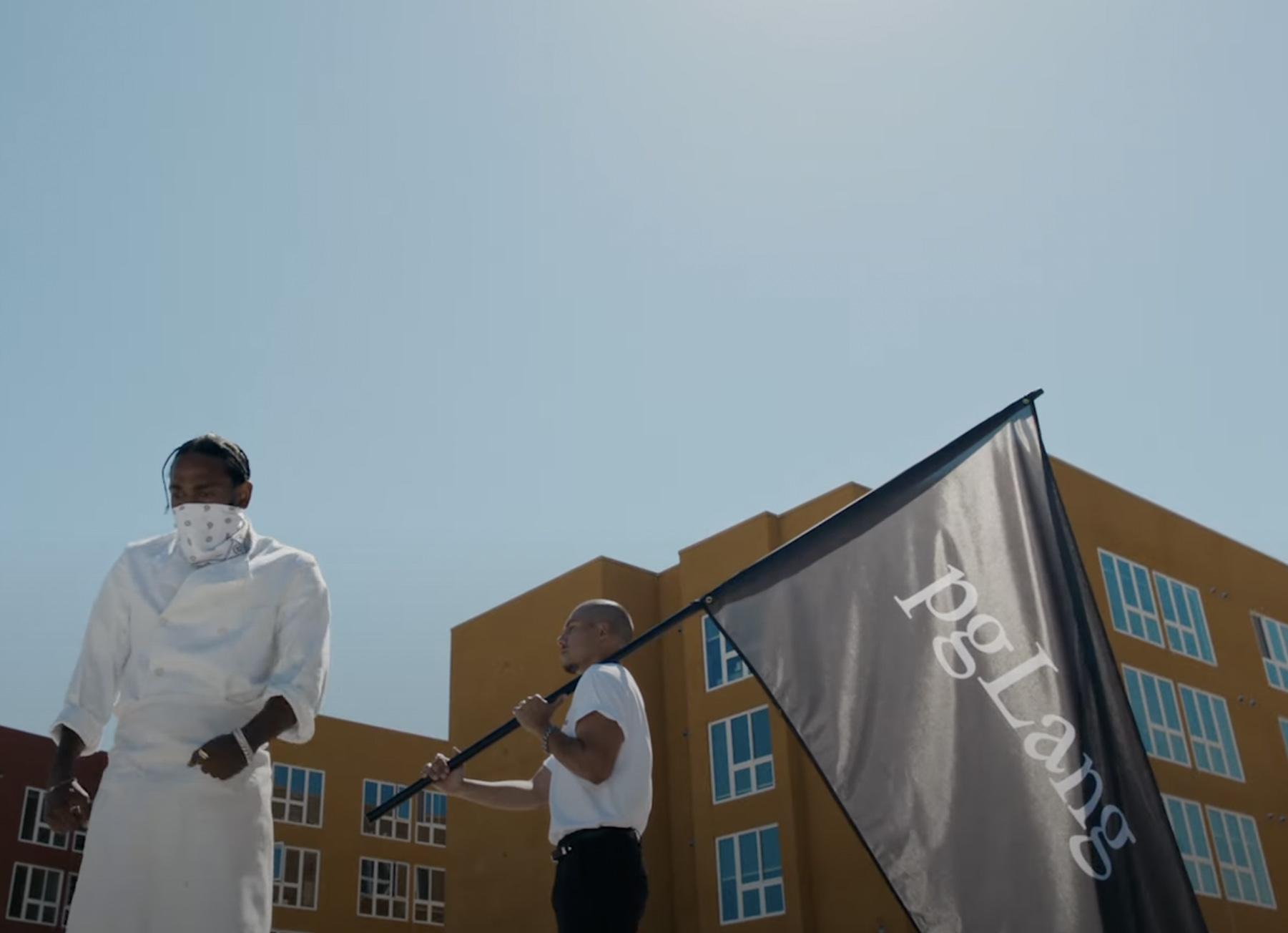 Kendrick Lamar i videoen til «Family Ties» (pgLang)