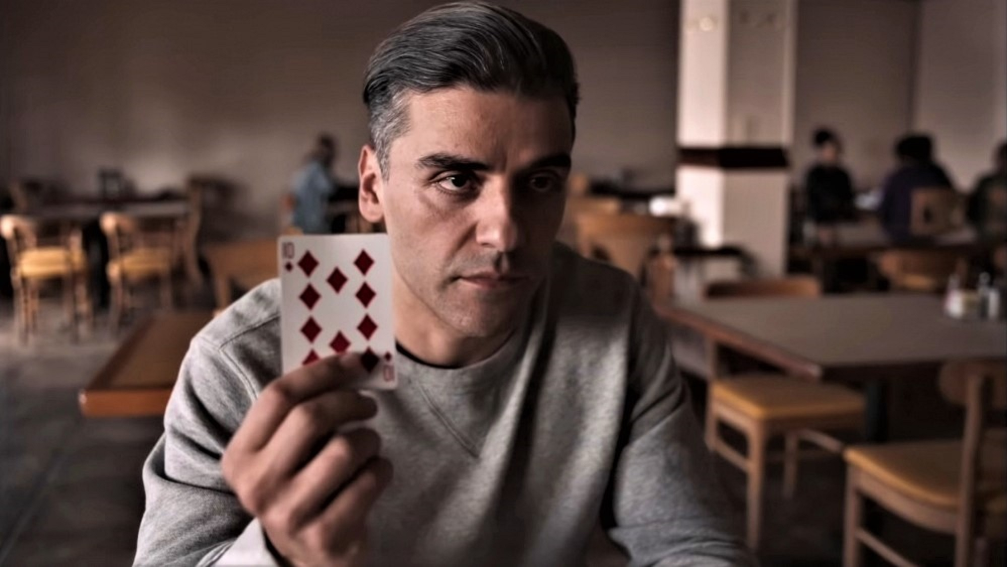 Oscar Isaac som William Tillich alias Tell i The Card Counter (Focus Features)
