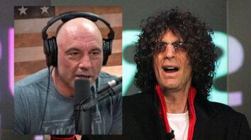Howard Stern vs. Joe Rogan (Mario Tama/Getty, The Joe Rogan Experience)